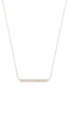 Geometric Bar Necklace in Silver