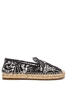 elysewalker los angeles Lace Espadrille in Black