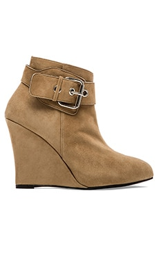 elysewalker los angeles Buckle Wedge Platform Bootie in Taupe