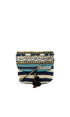 Jane Striped Crossbody Bag em Navy & Off White