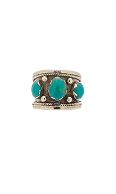 Emerald Duv Bolivia Ring in Silver & Turquoise