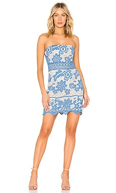 Crochet Lace Border Dress Endless Rose $50