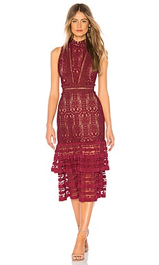 Torn By Ronny Kobo Ruthie Dress In Burgundy Revolve
