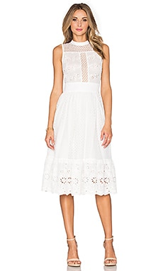 Endless Rose Louise Woven Dress in Off White