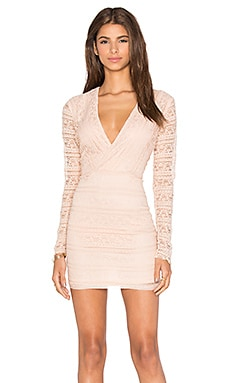 Endless Rose Miamell Woven Dress in Nude Pink