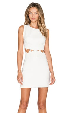 Endless Rose Crochet Cut Out Dress in White