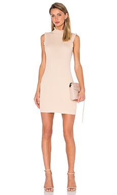 Endless Rose Knit Sleeveless Mock Neck Dress in Nude Pink