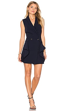 Sleeveless Tuxedo Mini Dress