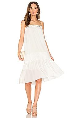 Flare Dress in Off White