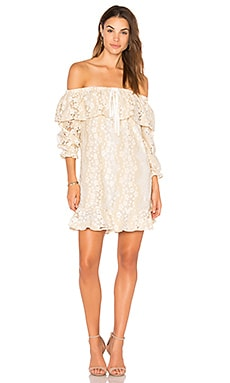 Off Shoulder Lace Dress With Tie
