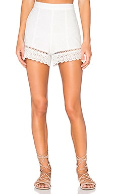 Lace Short in White