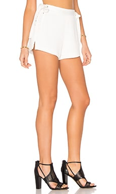 Lace Up Short in Off White