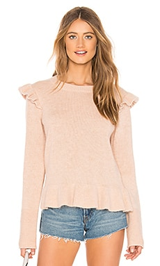 Ruffle Detail Angora Sweater Endless Rose $46