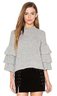 Exaggerated Sleeve Sweater en Gris