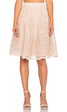Endless Rose Lexi Midi Skirt in Nude