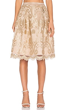 Endless Rose Frankenmuth Skirt in Gold