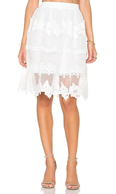 Endless Rose Fayette Skirt in Off White