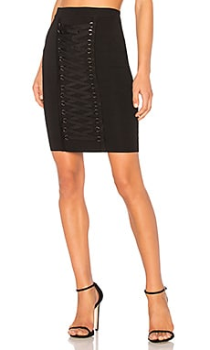 Knitted Pencil Lace Up Front Skirt