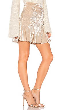 Crushed Velvet Mini Skirt Endless Rose $20 (FINAL SALE)