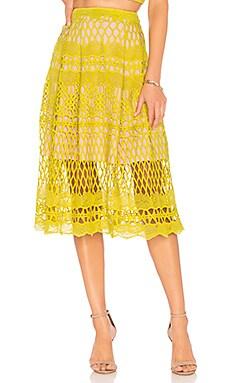 Guipure Lace Midi Skirt Endless Rose $114