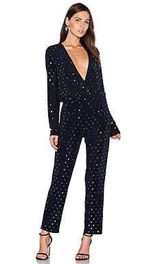 Embellished V Neck Jumpsuit