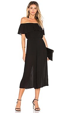 Pleated Off Shoulder Jumpsuit