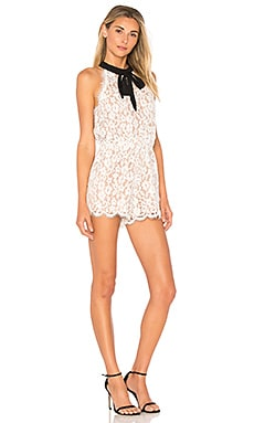 Tied Ribbon Lace Romper
