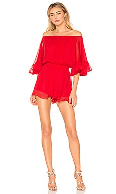 Asymmetrical Dress in Red. - size L (also in M,S,XS) endless rose