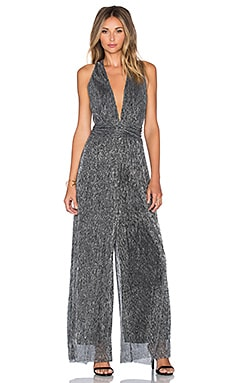 Endless Rose Farrah Jumpsuit in Silver