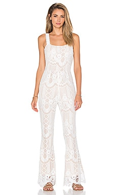 Endless Rose Rousseau Romper in Off White