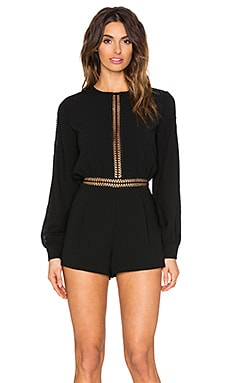 Endless Rose Iva Romper in Black