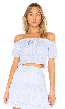 Off the Shoulder Smocked Top Endless Rose $25 (FINAL SALE)