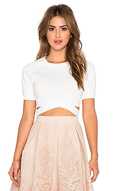 Endless Rose Bandage Top in Off White