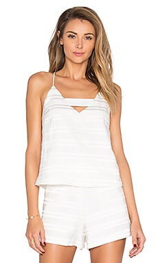 Marielle Woven Top in Off White