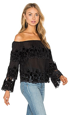 Off The Shoulder Top in Jet Black