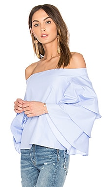 Tiered Top in Dusty Blue