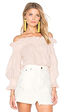 x REVOLVE Off the Shoulder Top in Blush