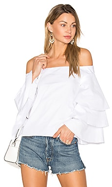 Tiered Top in White