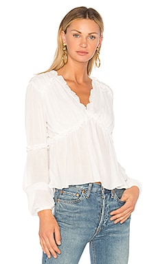 Ruffle Sleeve Accent Top