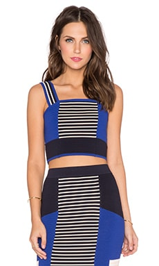 Endless Rose Colorblocked Crop Top in Blue Combo