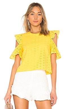 Eyelet Cold Shoulder Top Endless Rose $50