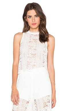 Endless Rose Lace Crop Top in Off White