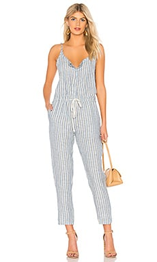 Linen Strappy Jumpsuit Enza Costa $83