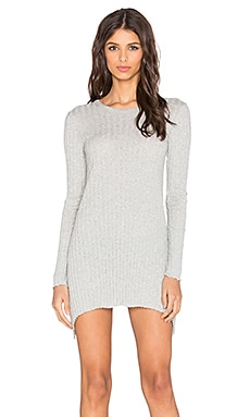 Enza Costa Cashmere Flare Tunic in Light Heather Grey