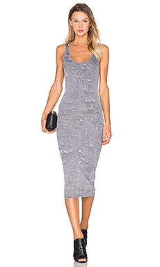Enza Costa Rib Tank Midi Dress in Erosion