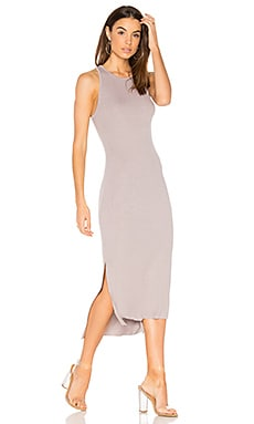 Rib Tank Dress in Lunar Grey