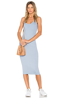 Rib Tank Dress in Dusty Blue