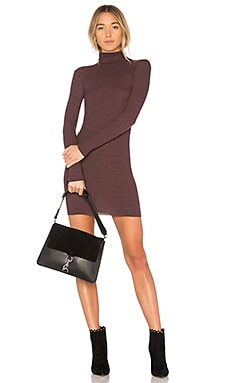 Rib Turtleneck Mini Dress