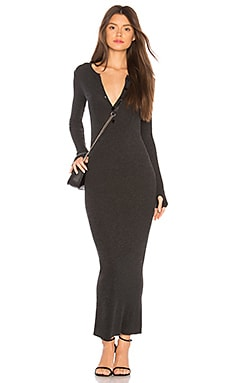 Cashmere Thermal Henley Dress
