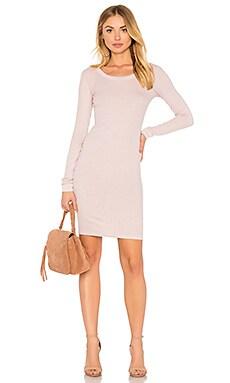 Rib Long Sleeve Dress
